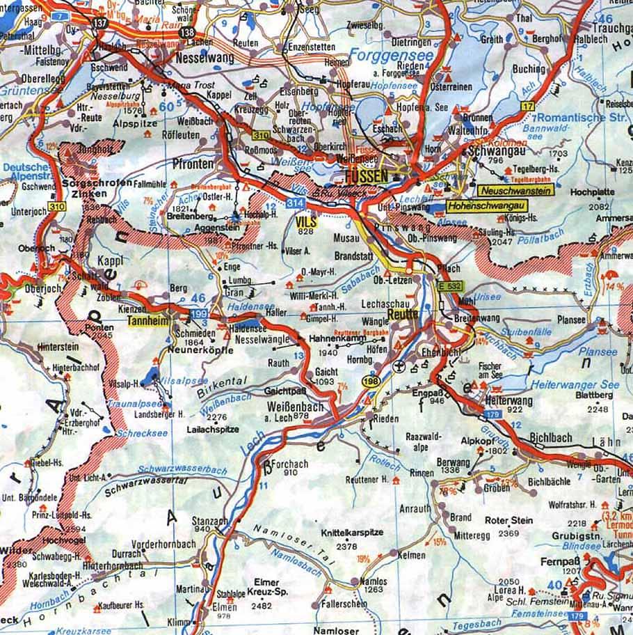 Rote >> Tannheimer Berge